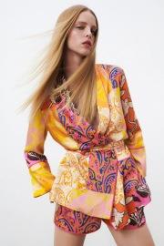 Women's Ethnic Style V-neck Printed Dress Nihaostyles Clothing Wholesale NSXPF77074