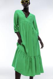 Women's Slim Ruffled Mid-length Solid Color Dress Nihaostyles Clothing Wholesale NSXPF77122