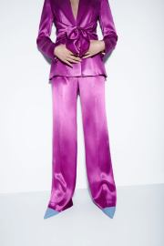 High-waist Straight-tube Hole  Purple Gradient Knitted Trousers Nihaostyles Clothing Wholesale NSXPF77124