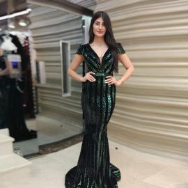 V-neck Sequin Dress Nihaostyles Clothing Wholesale NSCYF80347