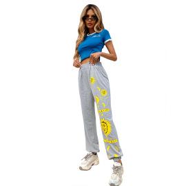 Pattern Simple Sweatpants Nihaostyles Clothing Wholesale NSJM80363