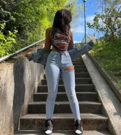 Ripped Elastic Jeans Nihaostyles Clothing Wholesale NSTH80378