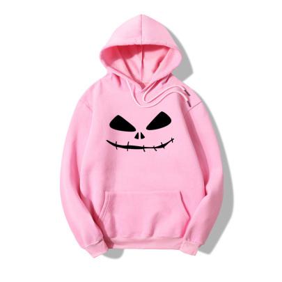 Halloween Terrorist Smiling Face Print Casual Fleece Hooded Sweatershirt Nihaostyles Wholesale Halloween Costumes NSYAY80725