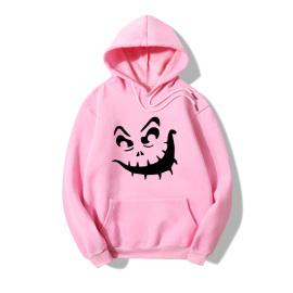 Halloween Terrorist Smiling Face Print Casual Fleece Hooded Sweatershirt Nihaostyles Wholesale Halloween Costumes NSYAY80724