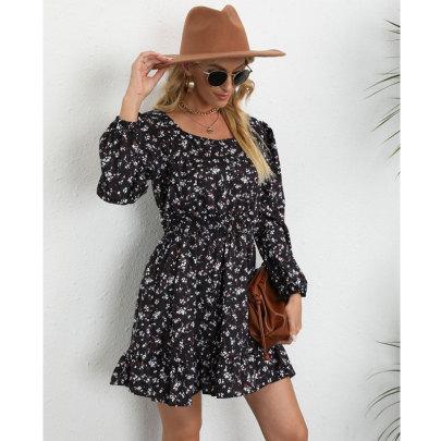 Women's Print Long Sleeve Casual Dress Nihaostyles Wholesale Clothing NSJC80686