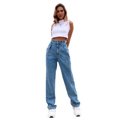 Women's Wide Leg High Waist Jeans Nihaostyles Wholesale Clothing NSJM80431