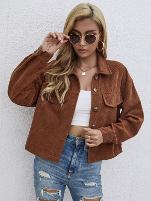 Women's Corduroy Jacket Coat With Buttons Nihaostyles Wholesale Clothing NSJM80439