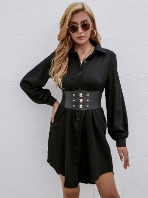 Women's Receiving Waist Shirt Dress Nihaostyles Wholesale Clothing NSJM80440