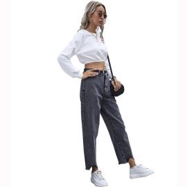 Autumn And Winter Women's High Waist Denim Pants Nihaostyles Wholesale Clothing NSJM80443