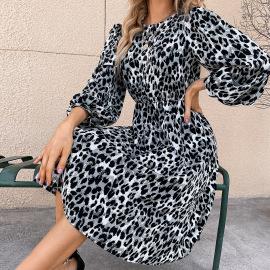 Women's Leopard Print Slim Dress Nihaostyles Wholesale Clothing NSJM80446
