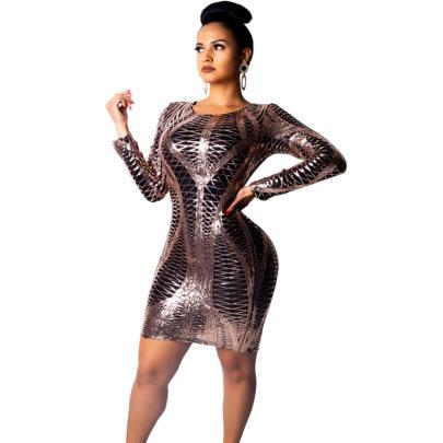 Women's Nightclub Sequin Dress Nihaostyles Wholesale Clothing NSCYF80456