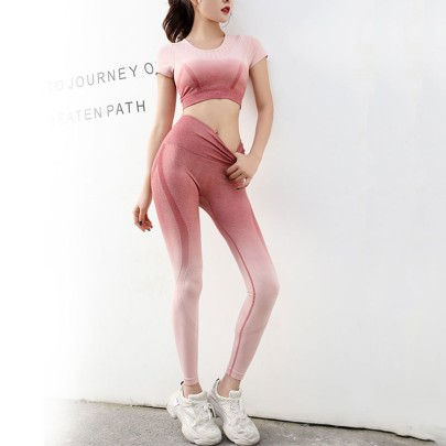 Women's Tight-fitting Hollow Tops And High-elastic Leggings Yoga Suit Nihaostyles Wholesale Clothing NSXER80462