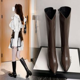 Women's  Pointed Toe High-heeled Leather Boots Nihaostyles Wholesale Clothing NSCA80480