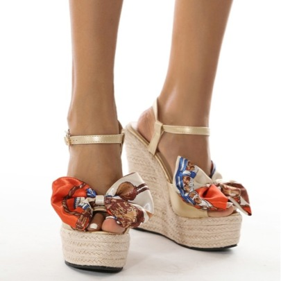 Women's Floral Silk High Heel Sandals Nihaostyles Wholesale Clothing NSCA80482