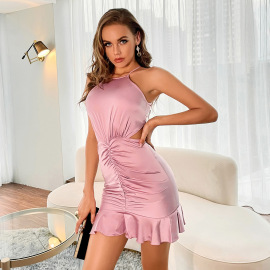 Women's Halterneck Sleeveless Strapless Dress Nihaostyles Wholesale Clothing NSWX80502