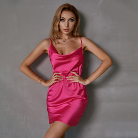 Summer Sling Slim Package Hip Backless Dress Nihaostyles Wholesale Clothing NSWX80508
