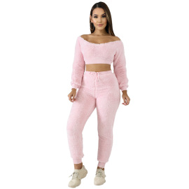 Women's Corduroy Home Casual Two-piece Set Nihaostyles Wholesale Clothing NSCYF80512