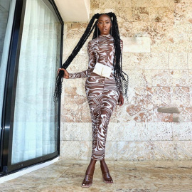 Women's Printing Slim Package Hip Dress Nihaostyles Wholesale Clothing NSJYF80514