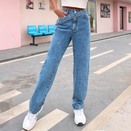Spring And Summer Women's High-waist Wide-leg Jeans  Nihaostyles Wholesale Clothing NSJM80541