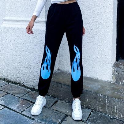 Women's Printing High-waist Pants Nihaostyles Wholesale Clothing NSJM80552