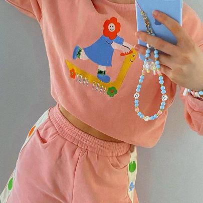 Autumn Childlike Embroidered Round Neck Pullover Sweatershirt Nihaostyles Wholesale Clothing NSXE80599