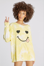 Autumn And Winter Women's Round Neck Long-sleeved Smiling Face Print Sweatershirt Nihaostyles Wholesale Clothing NSYIS80760