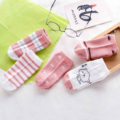 Short Polyester Cotton Socks 10-pairs Nihaostyles Clothing Wholesale NSLSD80694