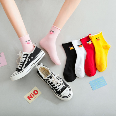 Medium Tube Curling Polyester Cotton Socks 10-pairs Nihaostyles Clothing Wholesale NSLSD80697