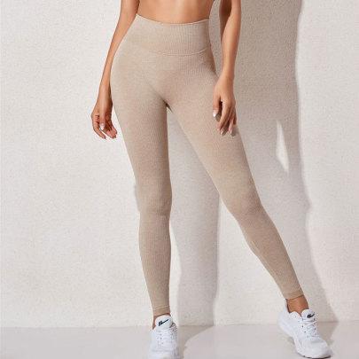 High Stretch Seamless High-waist Yoga Leggings Nihaostyles Clothing Wholesale NSXER80767