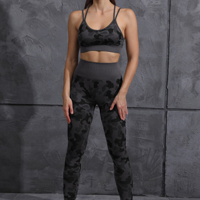 High Stretch Camouflage Printed Underwear High Waist Tights Leggings Yoga Suit Nihaostyles Clothing Wholesale NSXER80768