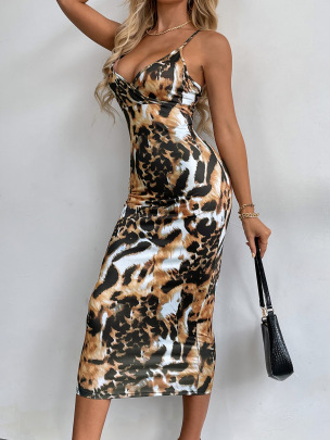 Women's Sexy V-neck Package Hip Backless Dress Nihaostyles Wholesale Clothing NSJM80804