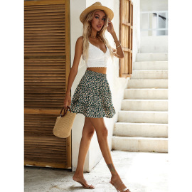 Women's Cusual Floral Daisy Print Skirt Nihaostyles Wholesale Clothing NSJM80808