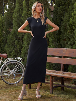 Women's Sexy Sleeveless Pure Color Tight Dress Nihaostyles Wholesale Clothing NSJM80809