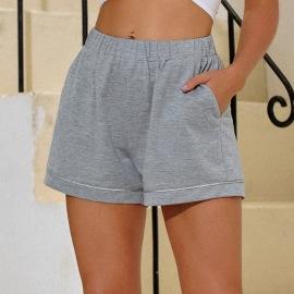Women's Elastic High Waist Casual Shorts Nihaostyles Wholesale Clothing NSJM80817