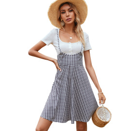 Spring And Summer Women's Retro Sling Dress Nihaostyles Wholesale Clothing NSJM80822