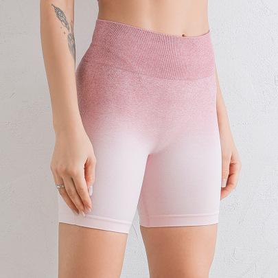 High Stretch Knitting Gradient High-waist Short Leggings Nihaostyles Clothing Wholesale NSXER80834