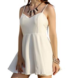 Summer Women's V-neck Stretch Backless Sling Short Dress Nihaostyles Wholesale Clothing NSJM80801