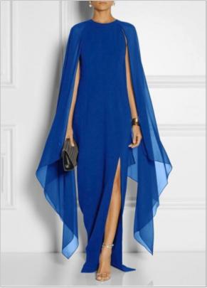 Chiffon Sleeveless Shawl Dress Nihaostyles Clothing Wholesale NSYIS81355