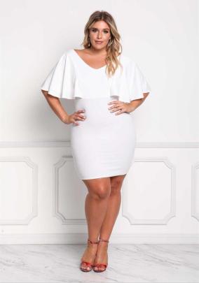 V-neck Mid-sleeve Plus Size Dress Nihaostyles Clothing Wholesale NSYIS81351