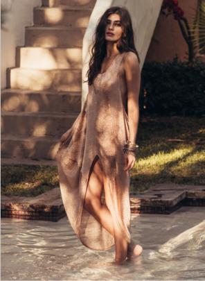 Sleeveless Slit Dress Nihaostyles Clothing Wholesale NSYIS81350