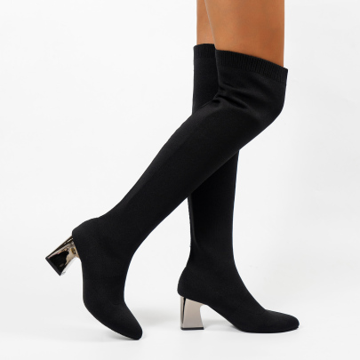 Thick Heel Pointed Toe Over-the-knee Boots Nihaostyles Clothing Wholesale NSYUS81342