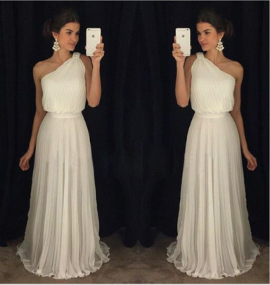 One-shoulder Sleeveless Solid Color Dress Nihaostyles Clothing Wholesale NSYIS81325