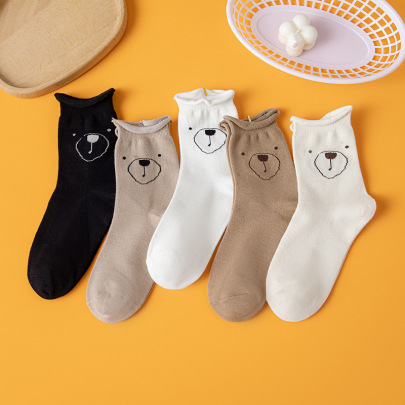Medium Tube Curled Polyester Cotton Socks Nihaostyles Clothing Wholesale NSLSD80939