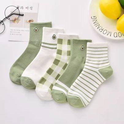Mid-tube Polyester Cotton Socks 10-pairs Nihaostyles Clothing Wholesale NSLSD80944