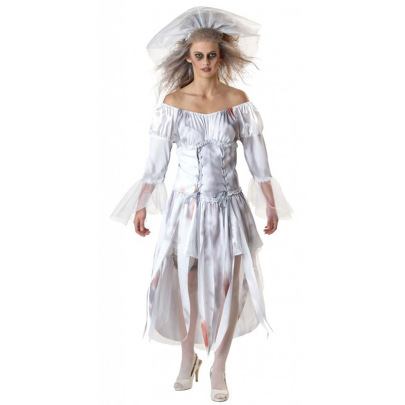 Halloween Grim Reaper Ghost Bride Dress Cosplay Nihaostyles Wholesale Halloween Costumes NSQHM80970