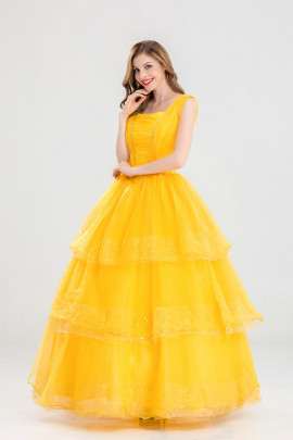 Beauty And The Beast Belle Belle Princess Dress Cosplay Costume Nihaostyles Wholesale Halloween Costumes NSQHM80973