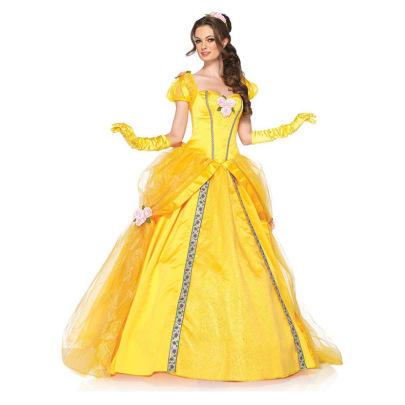 Halloween  Cosplay Costume Belle Princess Dress Nihaostyles Wholesale Halloween Costumes NSQHM80977