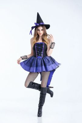 Halloween Tuxedo Witch Fancy Dress Ball Cosplay Costume Nihaostyles Wholesale Halloween Costumes NSQHM80978