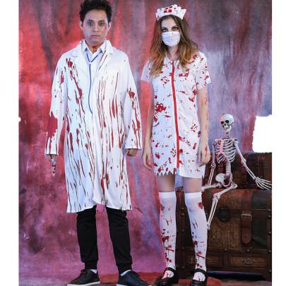 Halloween Horror Bloody Nurse Costume Nihaostyles Wholesale Halloween Costumes NSQHM80984