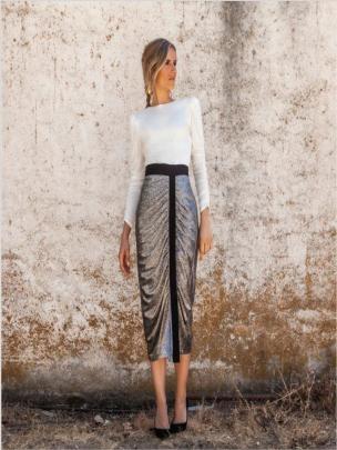 Round Neck Long-sleeved Slim Dress Nihaostyles Clothing Wholesale NSYIS81287